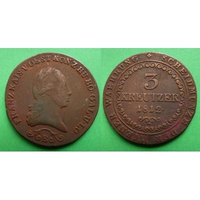 František I. - 3 krejcary 1812 B