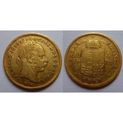 František Josef I. - 4 zlatník 1870 GYF