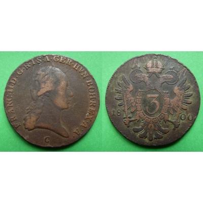 František I. - 3 krejcary 1800 C