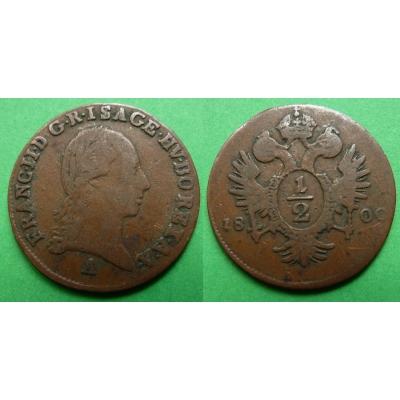 František I. - mince 1/2 krejcar 1800 A