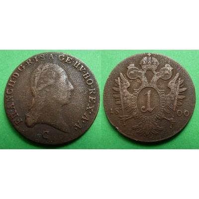 František I. - mince 1 krejcar 1800 C