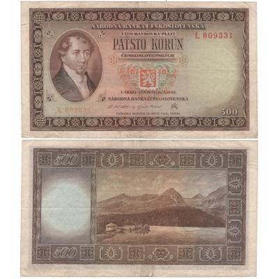 500 korun 1946, neperforovaná, série L