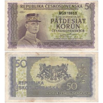 50 korun 1945, neperforovaná, série MG