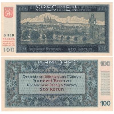 100 korun 1940, I. vydání, série B