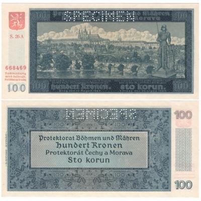 100 korun 1940, II. vydání, série A