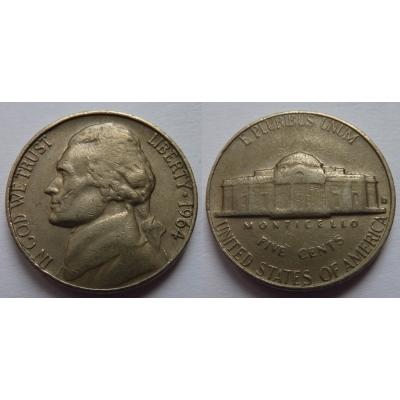 Spojené státy americké - 5 cents 1964 D