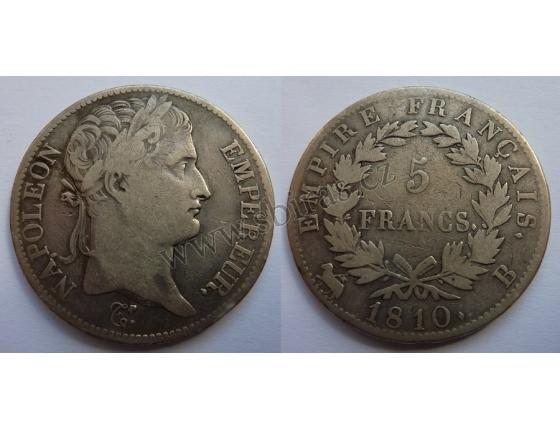 Napoleon I. Bonaparte - 5 francs 1810 B