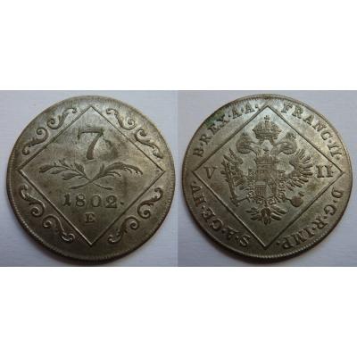 František I. - 7 krejcarů 1802 E