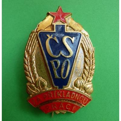 Československý svaz protipožární ochrany - medaile číslovaná, Za příkladnou práci