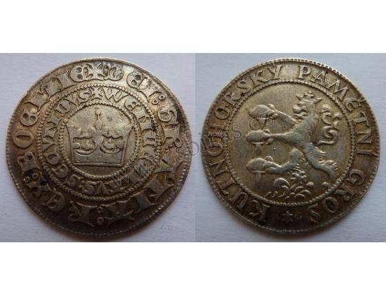 Kutnohorský pamětní groš, stříbro