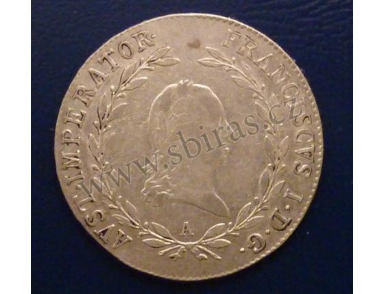 20 krejcarů 1825