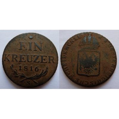 František I. - mince 1 Krejcar 1816 S