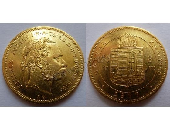 František Josef I. - 8 Zlatník 1877 KB