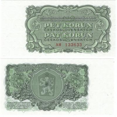 5 korun 1961 UNC, série AH