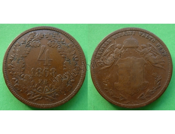 4 Kreuzer 1868
