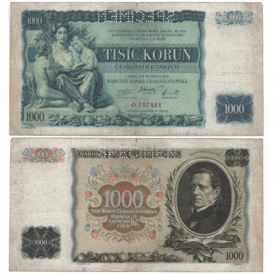 1000 korun 1934, série O