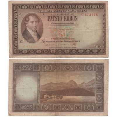 500 korun 1946, neperforovaná, série G