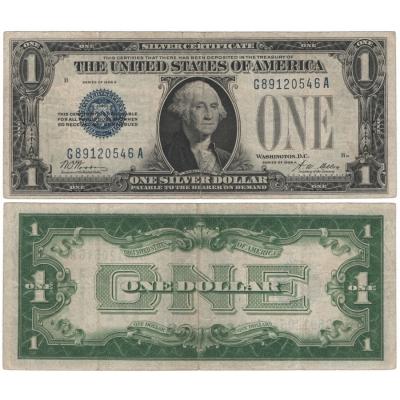USA - 1 dolar 1928, modrá pečeť