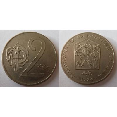 2 koruny 1974