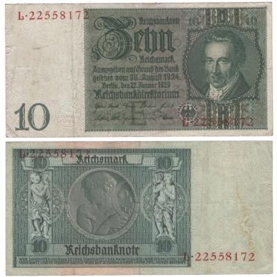 Německo - bankovka Reichsbanknote 10 Marek 1929