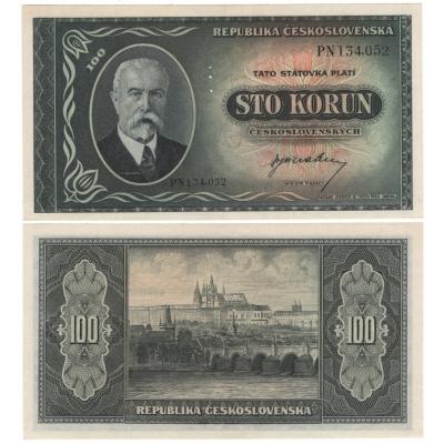 100 korun 1945, T.G. Masaryk