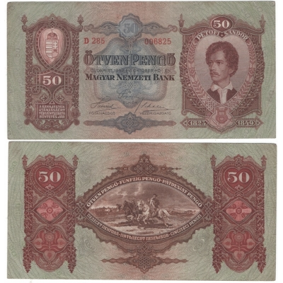 Maďarsko - bankovka 50 Forintů 1932