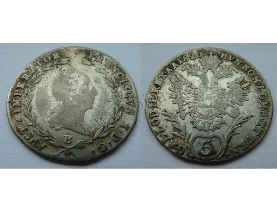 František I. - 5 krejcarů 1820 B
