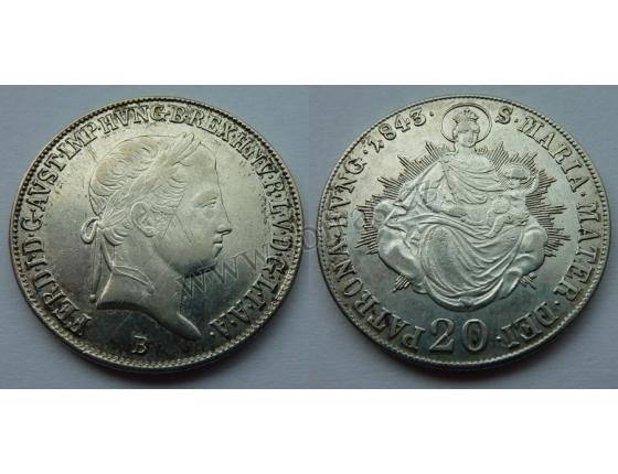 Ferdinand V. - 20 krejcarů 1843 B