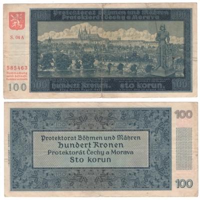 100 korun 1940, neperforovaná, II. vydání, série A