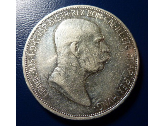 5 korun 1908 - 60 let vlády Františka Josefa I.