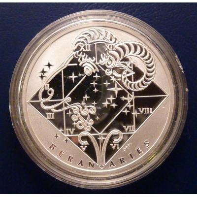 Česká republika - Beran, stříbrná medaile znamení zvěrokruhu proof v kapsli