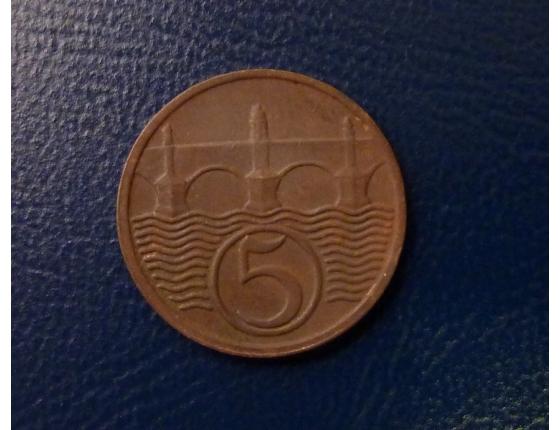 5 haléřů 1938