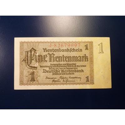 Deutschland - Banknote 1 Rentenmark 1937 (UNC)
