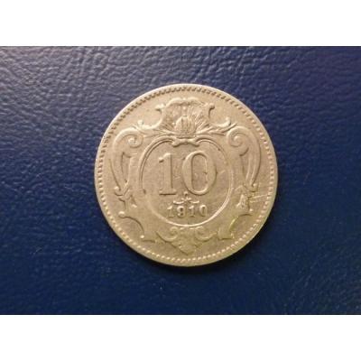 10 haléřů 1910