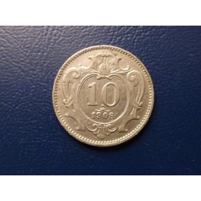 10 haléřů 1908