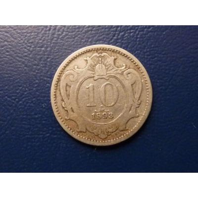 10 haléřů 1893