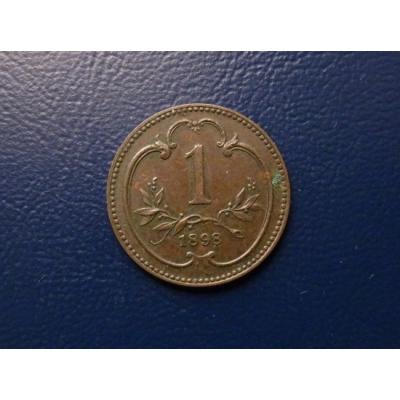 František Josef I. - mince 1 haléř 1898