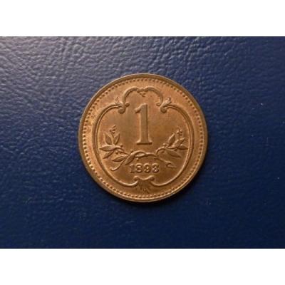 František Josef I. - mince 1 haléř 1893