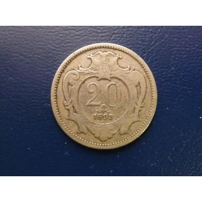 20 haléřu 1893