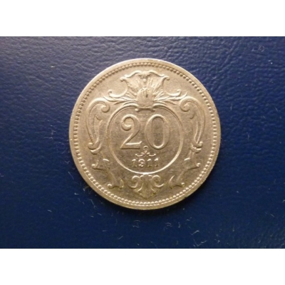 20 haléřů 1911
