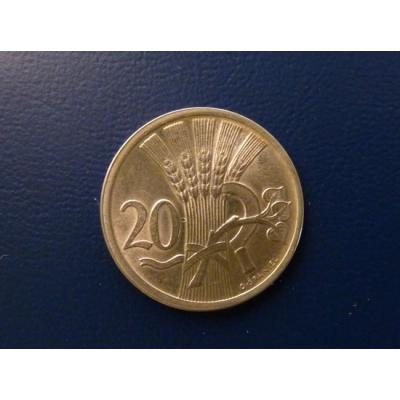 20 haléřů 1937