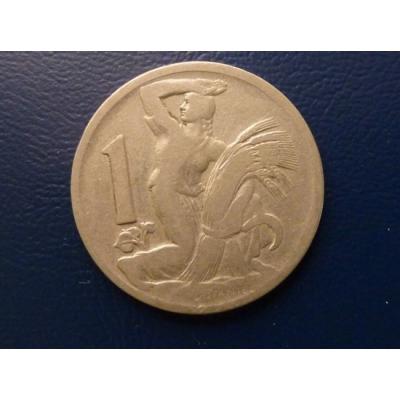 Československo - mince 1 koruna 1922