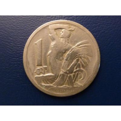 Československo - mince 1 koruna 1923