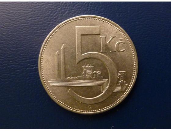 5 korun 1938