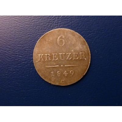 6 krejcarů 1849