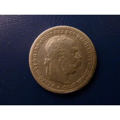 František Josef I. - stříbrná mince 1 koruna 1899