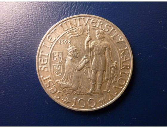 100 Korun 1948 - 600 let založení UK