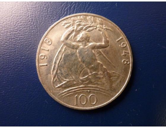 100 korun 1948 - 30 let vzniku Československa