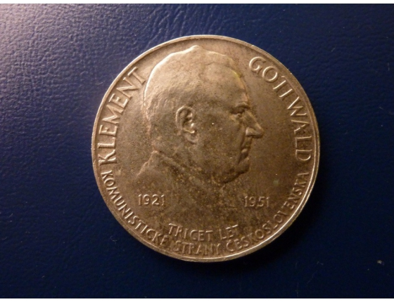 100 korun 1951 - 30 let KSČ