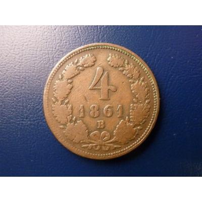 4 Kreuzer 1861